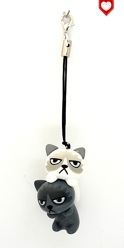 Angry Cats Nr 6 Handyanhänger