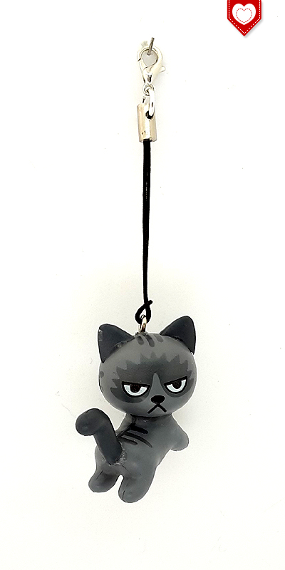 Angry Cats Nr 5 Handyanhänger