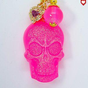 Anhänger Totenkopf Schädel Skull Pink