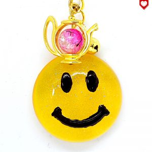Anhaenger Smiley Gold Resin 01