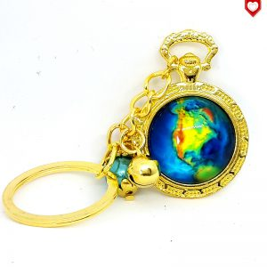 Taschenuhr Erde Weltall Nordamerika Anhänger