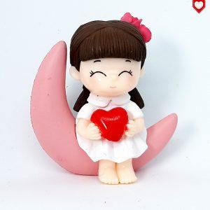 Mädchen Mond Herz Romantische Figuren